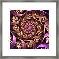 Fractal Multicolored Depth Framed Print