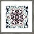 Fractal Snowflake Pattern 1 Framed Print