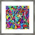 Fractured Kaleidoscope Framed Print