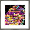 Fractured Sunrise On Planet Magoo Framed Print