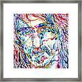 Frank Zappa  Portrait.3 Framed Print