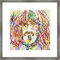 Frank Zappa Watercolor Portrait.1 Framed Print