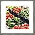 Frash Fruit And Vegetables Framed Print