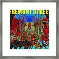 Fremont Street Poster Work C Framed Print