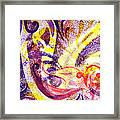 French Curve Abstract Movement II Framed Print