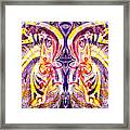French Curve Abstract Movement V Magic Butterfly  Framed Print