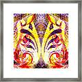 French Curve Abstract Movement Vi Mystic Flower Framed Print