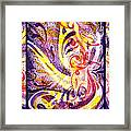 French Curve Abstract Movement Vii Happy Trio Framed Print