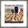 French Propaganda Poster Published In Algeria From World War II 1943 Framed Print