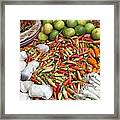 Fresh Chili Peppers Framed Print