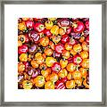 Fresh Colorful Hot Peppers Framed Print