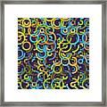 Fresh Geometric Circle Segment Pattern Framed Print