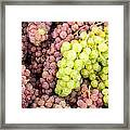 Fresh Grapes On Display Framed Print