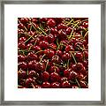 Fresh Red Cherries Framed Print