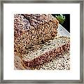 Fresh Zucchini Bread Framed Print