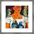 Frida In Tlaquepaque Framed Print