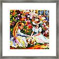 Friends With A Dog Framed Print