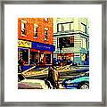 Friperie St.laurent Clothing Variety Dress Shop Downtown Corner Store City Scene Montreal Art Framed Print