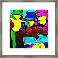 Frog Family Hanging Out On A Limb3 Framed Print