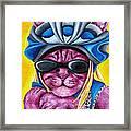 From Purple Cat Illustration 3 Framed Print