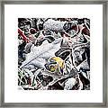 Frost On Leaves 1 Framed Print