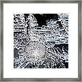 Frost Star Framed Print