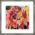 Frosty Oak Leaves Framed Print