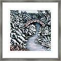 Frozen Brook - Winter - Bridge Framed Print
