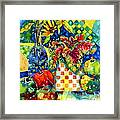 Fruit And Coleus Framed Print by Ann  Nicholson