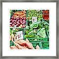 Fruit And Vegetable Stall Framed Print