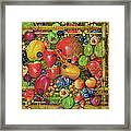 Fruit In Bamboo Box Framed Print