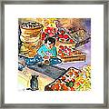 Fruit Shop In The Mountains Of Gran Canaria Framed Print