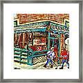 Fruiterie Epicerie Soleil Verdun Montreal Depanneur Paintings Hockey Art Montreal Winter City Scenes Framed Print