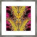 Fuchsia Sensation Abstract Framed Print