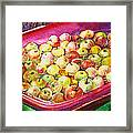 Fuji Apples In The Water Framed Print