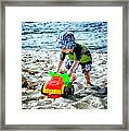 Fun At The Beach Framed Print