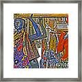 Funky Boutique Framed Print