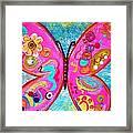 Funky Butterfly Framed Print