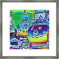 Funky Snowman Holiday  Framed Print