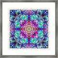 Fushia Rainbow Mandala Framed Print