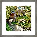Gacka River Spring Watermill And Historic Ruins Framed Print