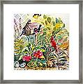 Garden Birds Framed Print