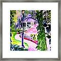 Garden City Gazebo Framed Print