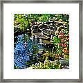 Garden Goldfish Pond Framed Print