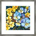 Garden Harmony Framed Print by Zaira Dzhaubaeva