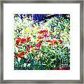 Garden Impressionism Framed Print