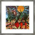 Garden In Moonlight Framed Print