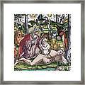 Garden Of Eden Historiae Animalium Framed Print