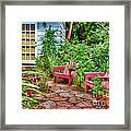 Garden Treasures At Aunt Eden's By Diana Sainz Framed Print