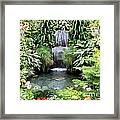 Garden Waterfall Framed Print